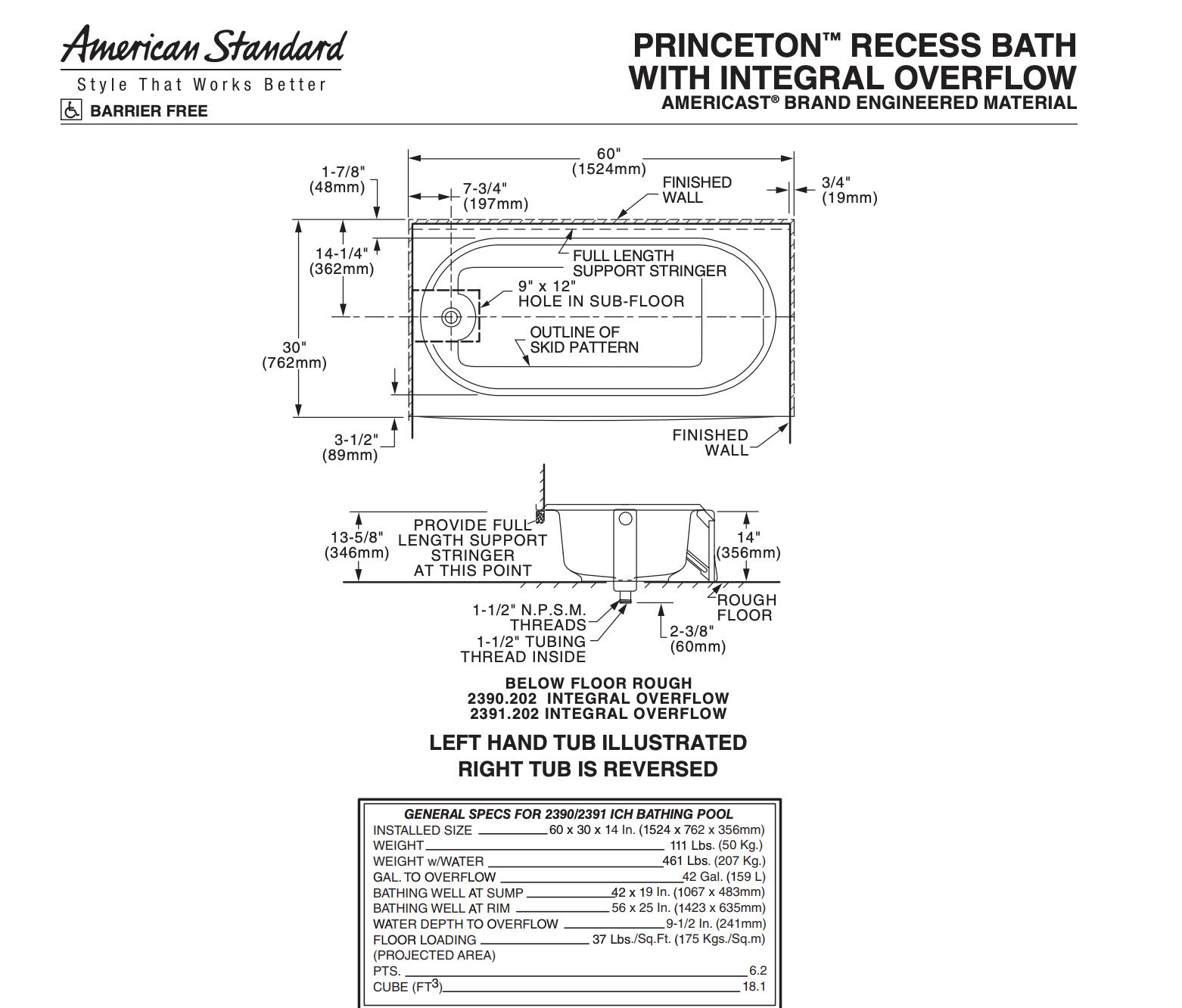Diagram Bathtub Installation Question Plumbing