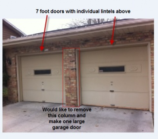 16 ft garage doorCombine 7 Garage Doors Into One 16 Ft Door  Connect Brick