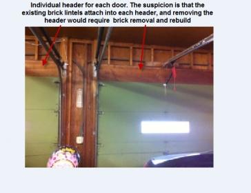 Combine 7 Garage Doors Into One 16 Ft Door Connect