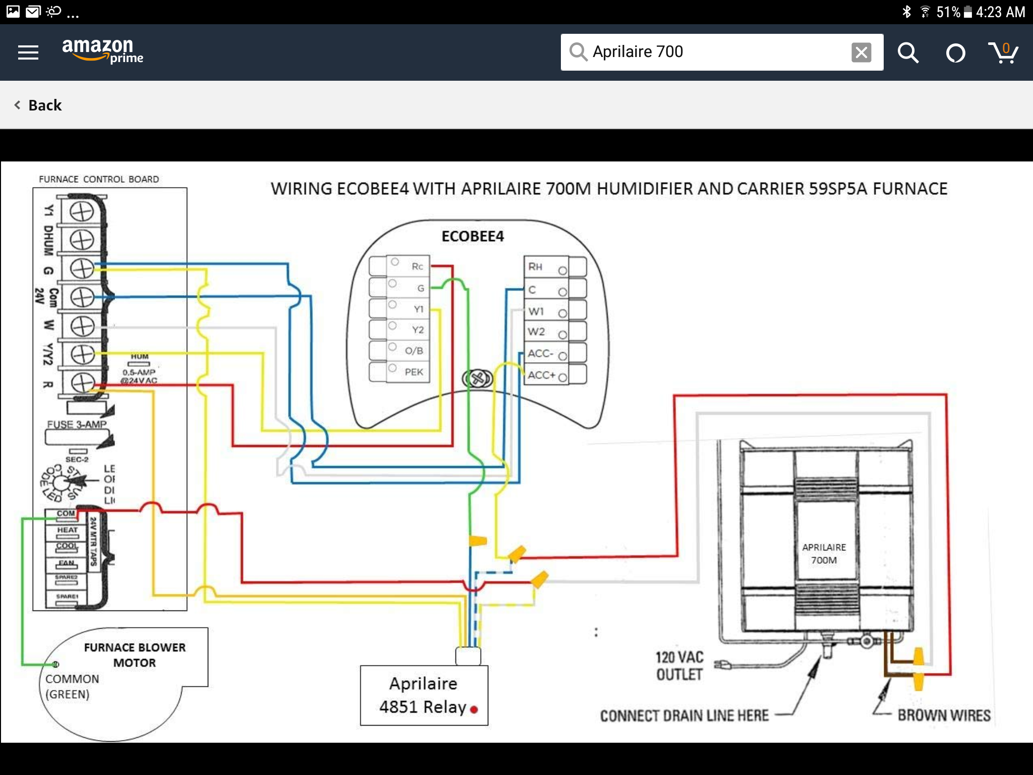 Help With Wiring On Aprilaire 700m Humidifier With Zone