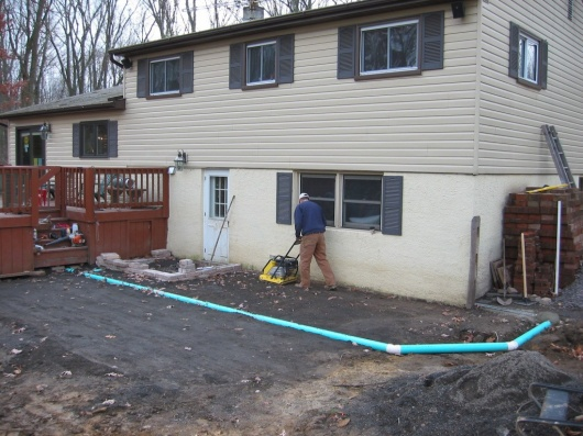 French Drain pipe under paver patio, how to prevent sagging-sdr-35.jpg