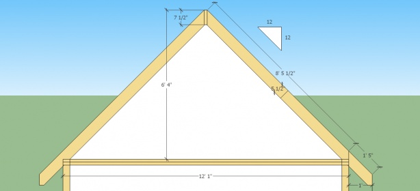 12 12 Roof Pitch Cutting Rafters Building Construction Diy Chatroom Home Improvement Forum