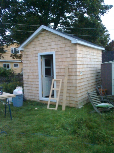 Build a shed or buy a kit
