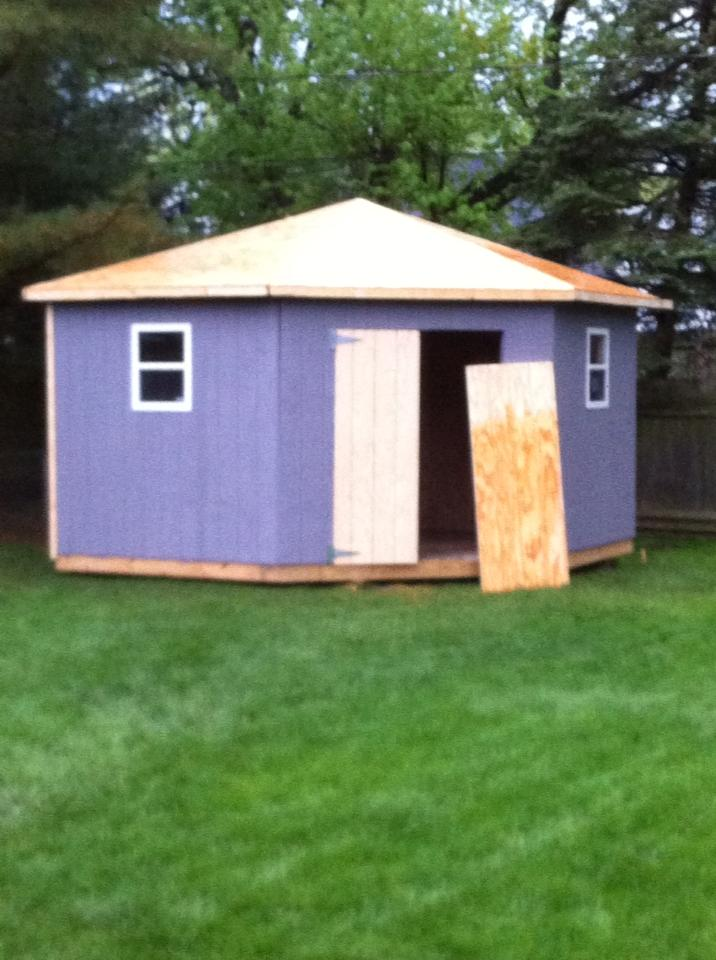 Questions about roofing gazebo-type hip roof.-shed6may13.jpg
