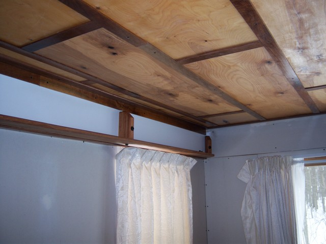 hiding that ugly 2x12 beam in new dining room-shelf2.jpg