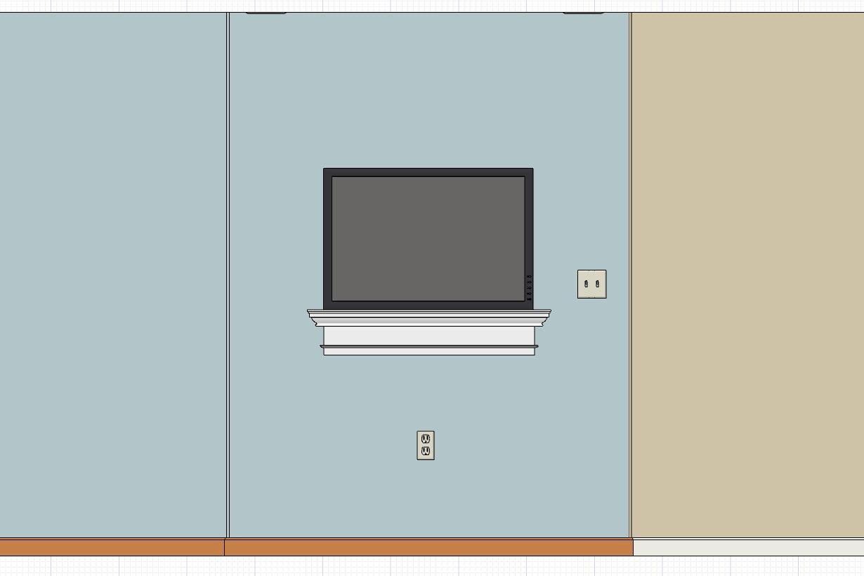 """How to spice up tv on the wall...looks """"bland""""-shelfele1.jpg"""