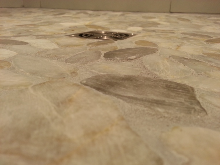 First Time Reno Attempt ...Venting-shower-drain-floor-closeup-2.jpg