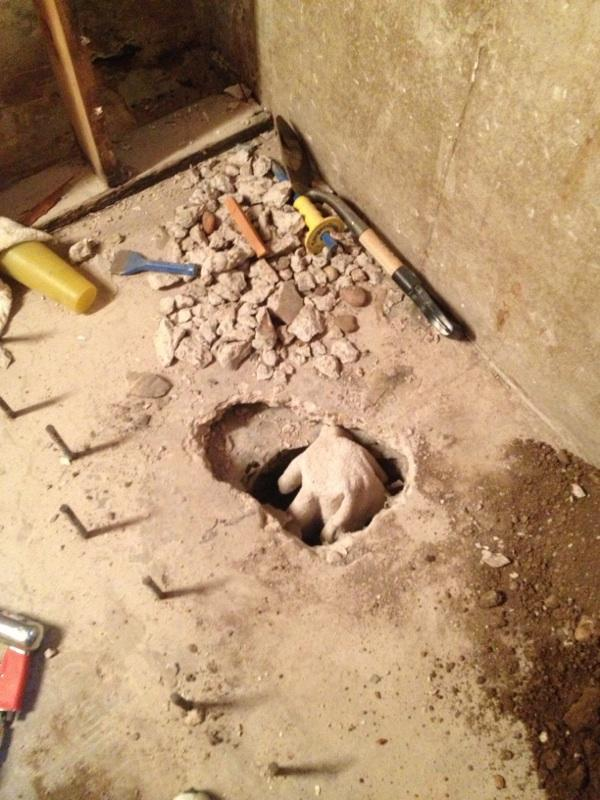My First Basement Remodel!!!-shower-drain.jpg