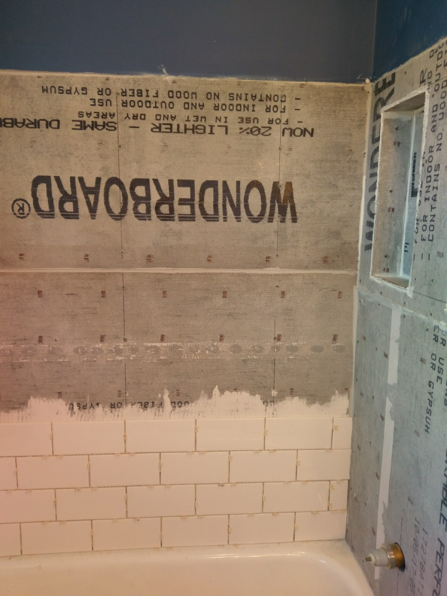 Tile Shower / No Waterproof - Did my husband do this right?-shower-install-2.jpg