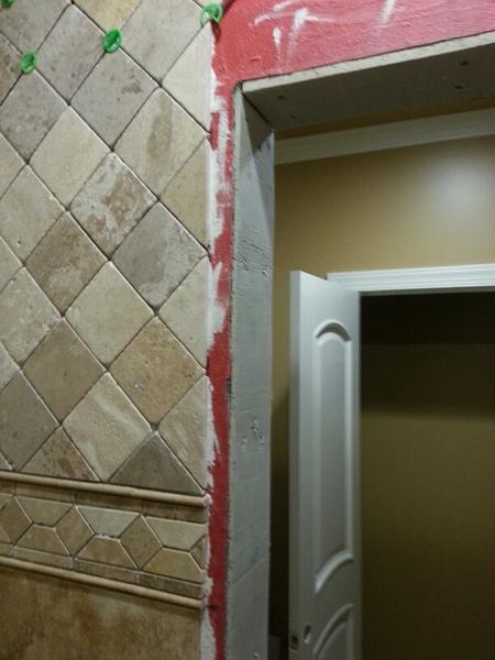 Door Frame Not Plumb Creating Wedge Gap On Trim Tiling
