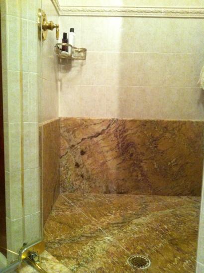 Marble Floor, Walk-in Shower...replace or tile over?-shower-marble-floor.jpg