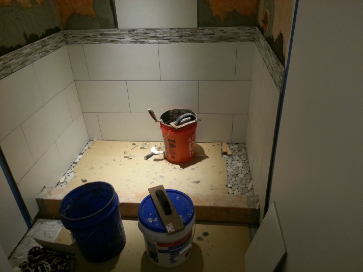 First Time Reno Attempt ...Venting-shower-wall-half-done.jpg