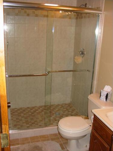 installing shower door on new tile diy
