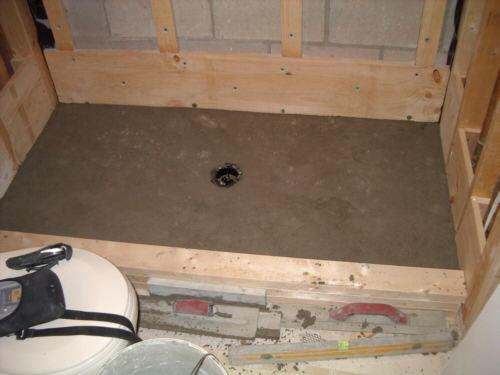 Building A Custom Shower. Showerfloorcurb14