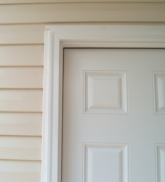 Caulking Under Brick Mold On Exterior Door Windows And