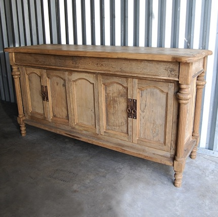 How Can I Make White Furniture Look Like Unstained Wood Sideboard ...