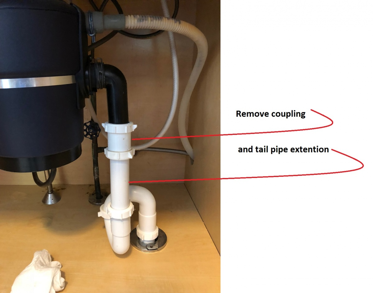Kitchen Sink Vertical Drain Pipe - Plumbed Correctly ...