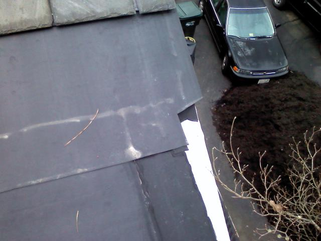 Transition Sloped Metal To Flat Epdm Roofing Siding