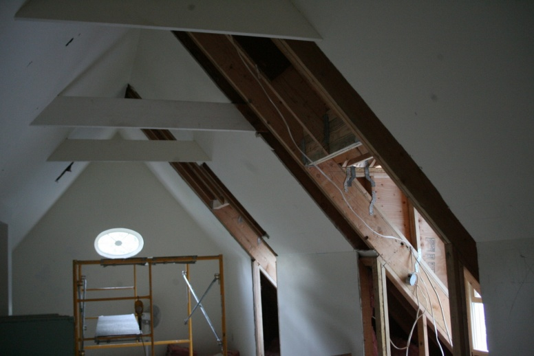 Adding Collar Ties To Make A Ceiling Building
