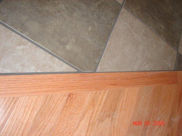 Hardwood Butting To Tile Flooring Diy Chatroom Home