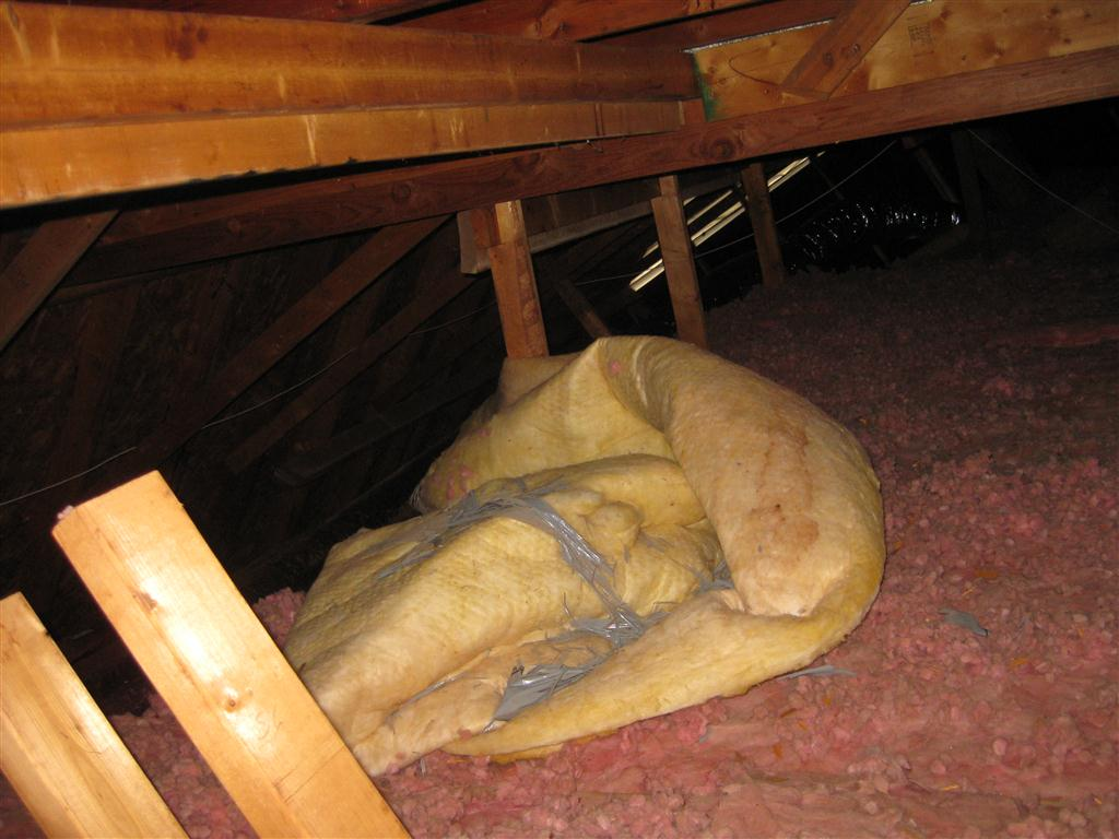 Old Poorly Insulated Attic W Vaulted Ceiling Insulation