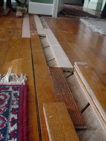 Oak Hardwood Floor Patchrepair Flooring Diy Chatroom Home