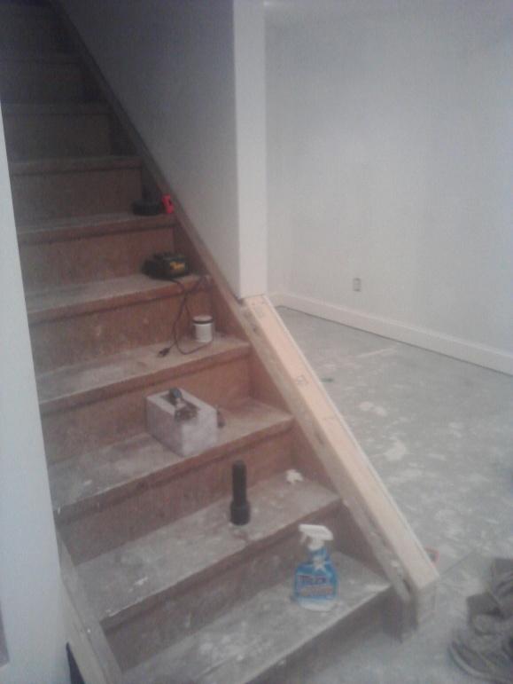 Finishing Stair Baluster/rail For Basement.