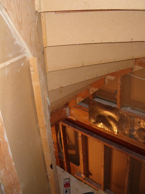 Framing for drywall under Spiral staircase-stairs-down-top.jpg