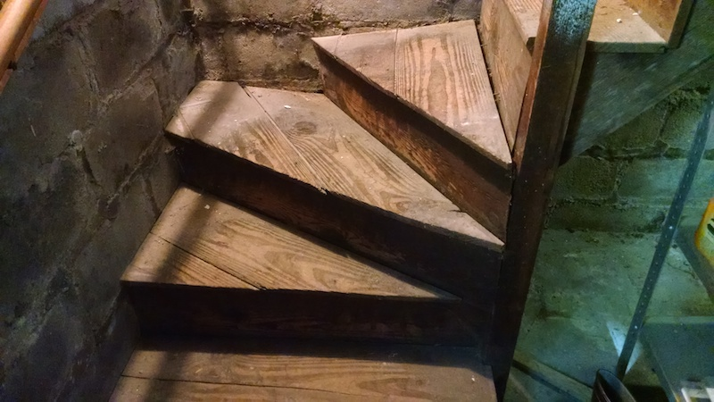 Repair Winding Basement Stairs Stairs