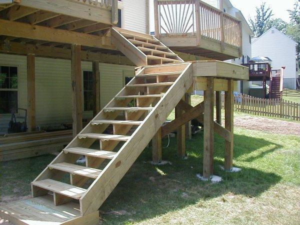 Build Wood Deck Stairs And Landing: Screw Length Stair Stringer Brackets