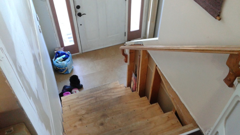 ... Newel And Trim Treads   Split Level Entry Stairs Topdown ...