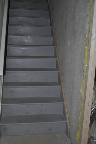 How To Finish Basement Stairwell Concrete Wall - Carpentry