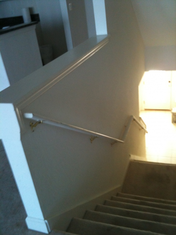 Remove Half Walls Amp Replace With Wood Railing Balusters