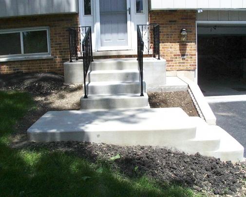 Oak hand rail on existing iron stair railing-steps-4-1.jpg