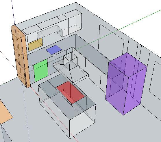 Remove kitchen walls below Fink truss attic, load bearing or not?-stove-island.jpg