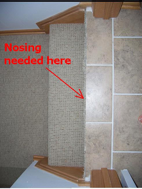 What Stair Nosing After Ceramic Install Flooring Diy