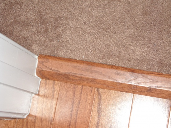 Hardwood To Carpet Transition Piece Flooring Diy