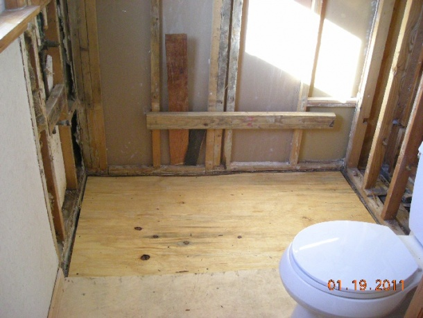 Bathroom Subfloor Replacement black mold on plywood subfloor - flooring - diy chatroom home