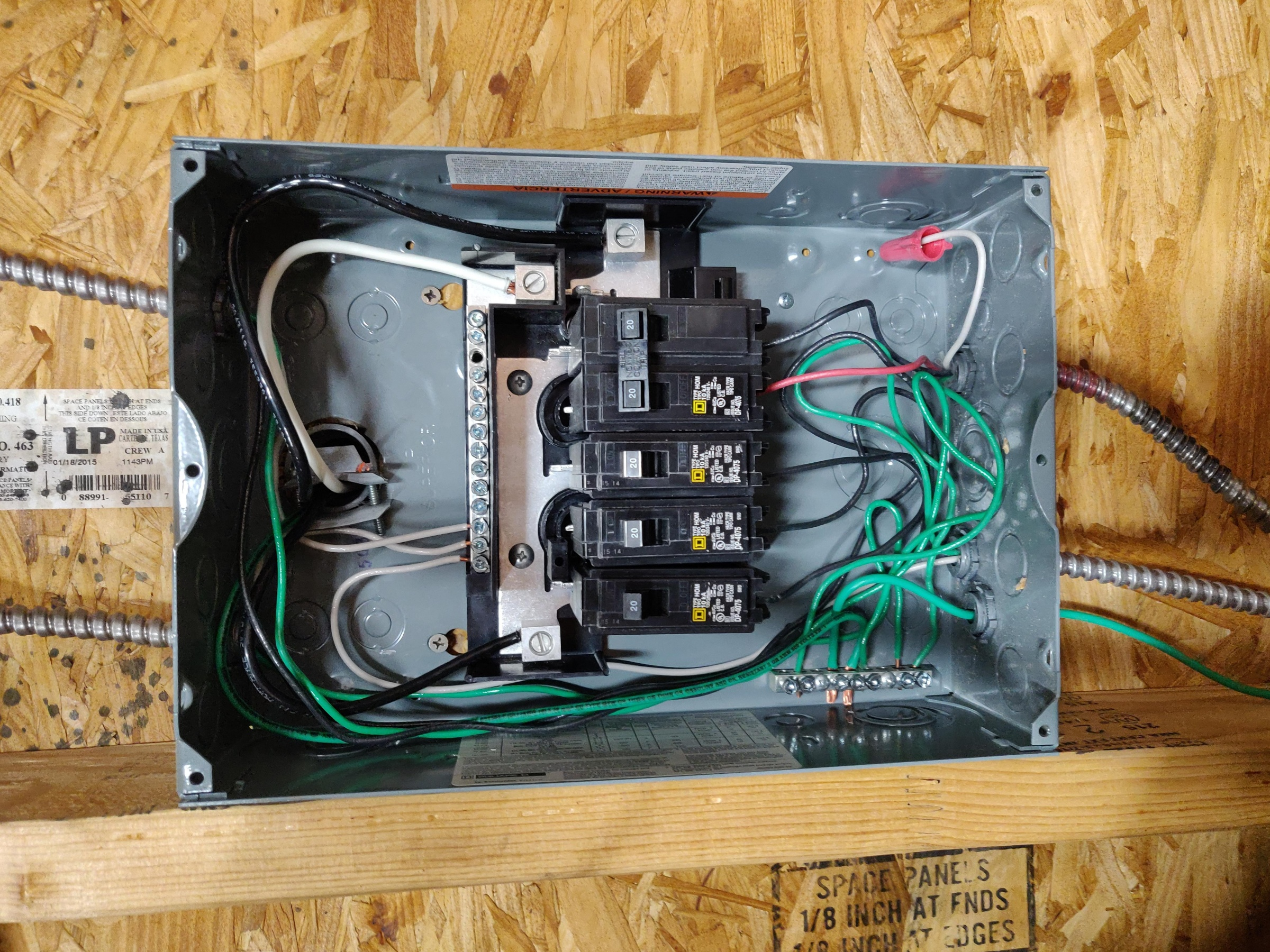 Wiring In Subpanel