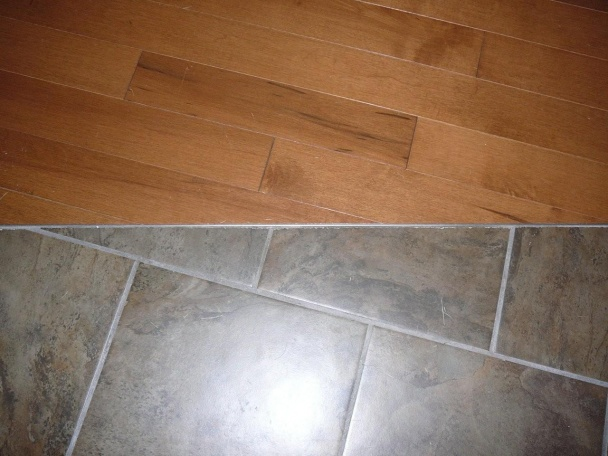 Perfect Hardwood Transition To Ceramic Tile - Flooring - DIY Chatroom Home  IV23