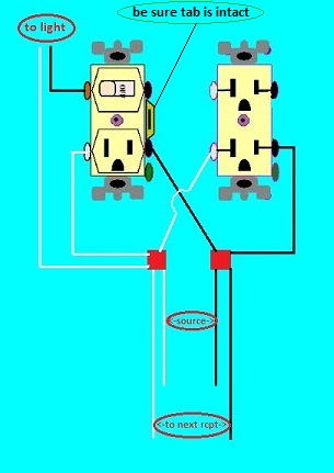 Combo Light Switch Outlet Re-wire Question - Electrical - DIY ...