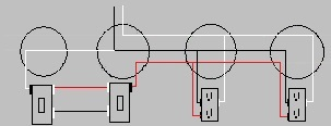 Two Half-hot Receptacles Controlled By Two 3-way Switches ...