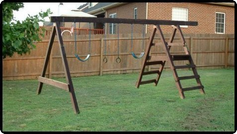 free plans to build a wooden swing set