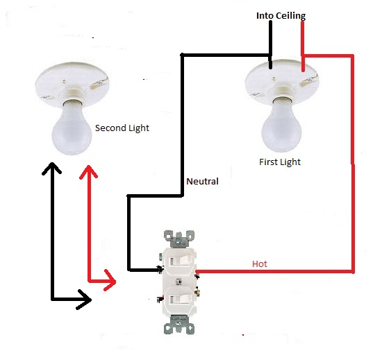 Adding A Second Light To A Double Switch