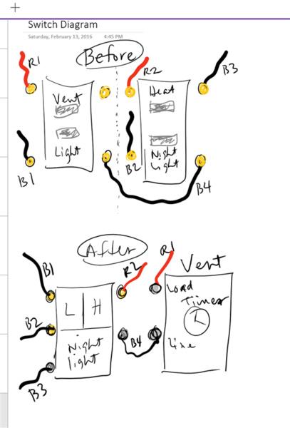 on fan night light bathroom wiring diagram