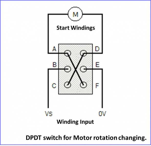 Installing Reversing Switch On 115 Volt Motor - Electrical
