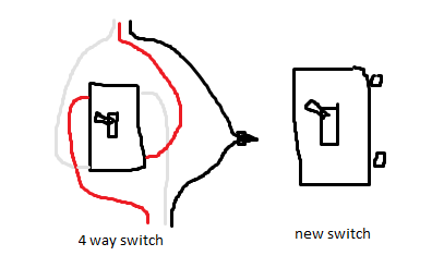 pulling power from a 4 way switch - electrical