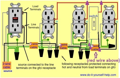 Wiring For Multiple Switched Outlets - Electrical