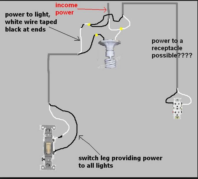how to run string light power from brick