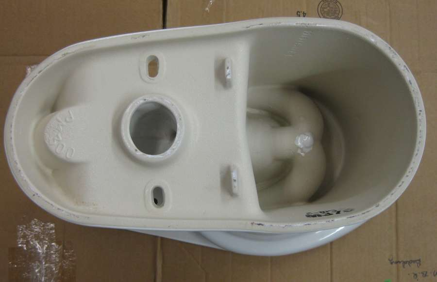 a closeup look at the mansfield cascade rimless toilet picst6 - Mansfield Toilet